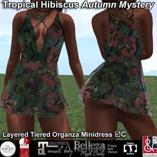 Tropical Hibiscus Minidress