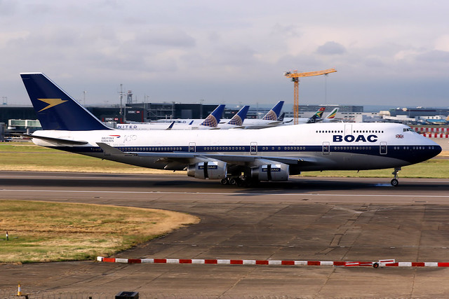 British Airways | Boeing 747-400 | G-BYGC | BOAC retro livery | London Heathrow