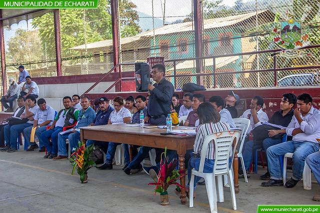 Municipalidad de Echarati participo en asamblea multisectorial en Ivochote