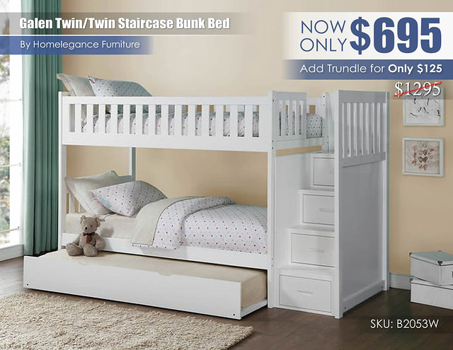 Galen Twin over Twin Staircase Bunk Bed wTrundle_B2053W_Update