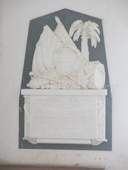 Memorial to Captain Charles Colby, killed by a tiger in India in 1852