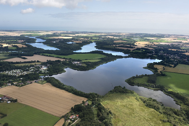 The Trinity Broads - Filby, Lily, Rollesby, Ormesby & Ormesby Little Broad - Norfolk UK aerial image