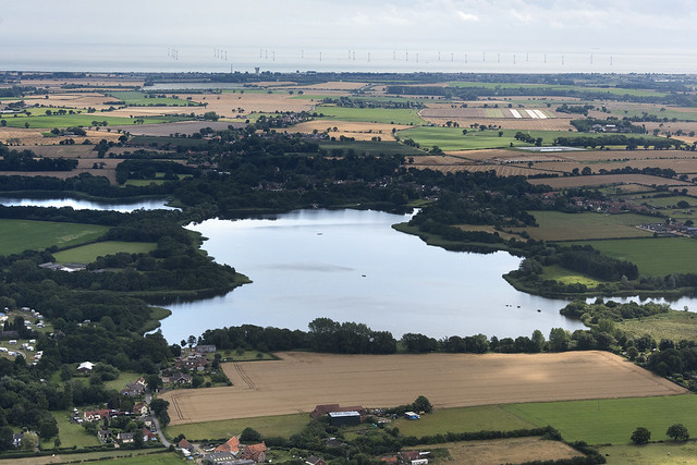 Filby Broad - Norfolk Broads UK aerial image