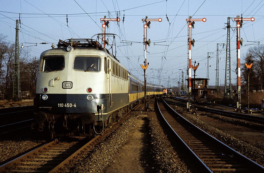 DB 110 450 Bf Köln-Kalk 10.03.1987