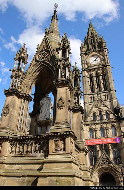 Town Hall & Albert Memorial, Manchester, UK