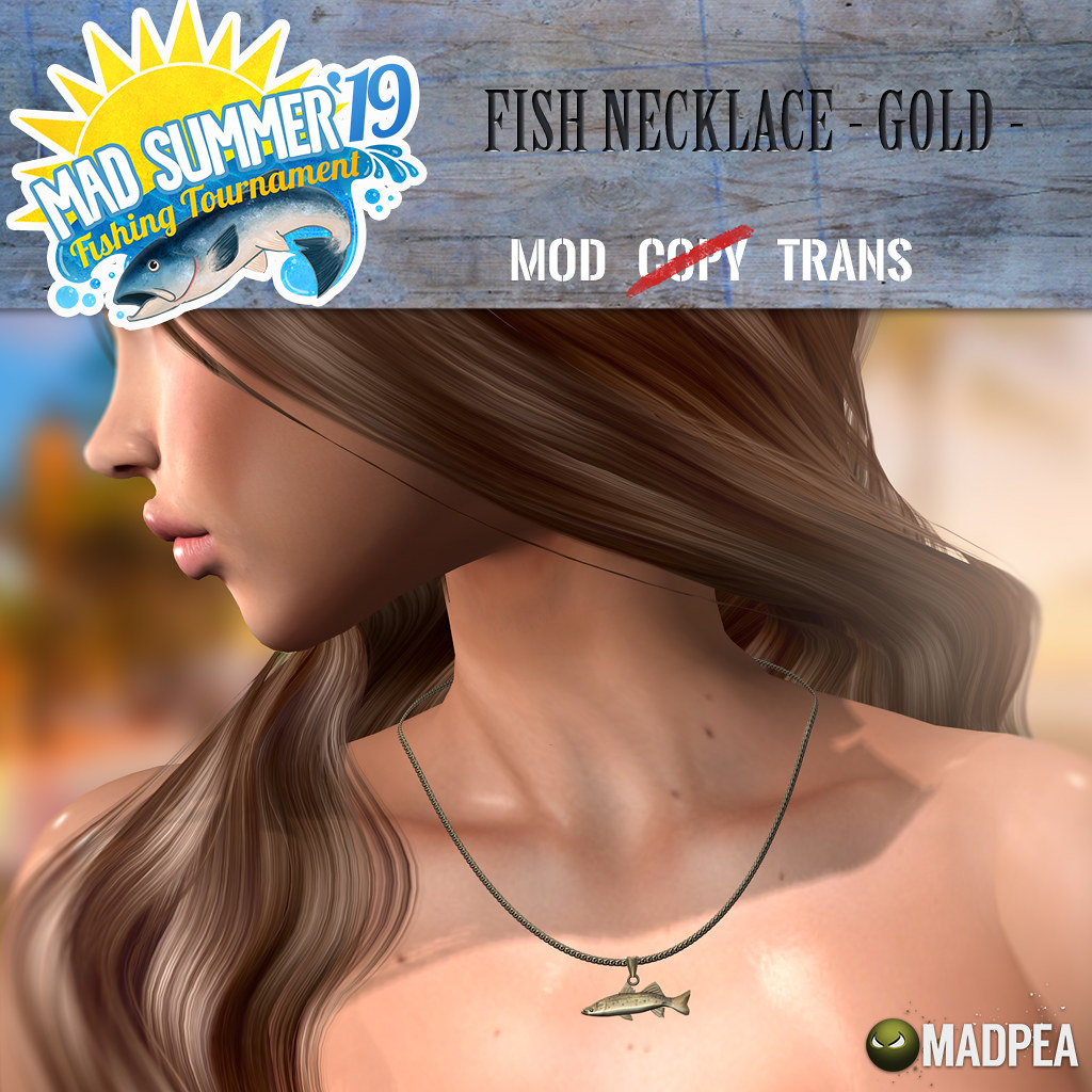 MadPea Mad Summer '19 Fishing Tournament Shiny: Fish Necklace - Gold! - TeleportHub.com Live!