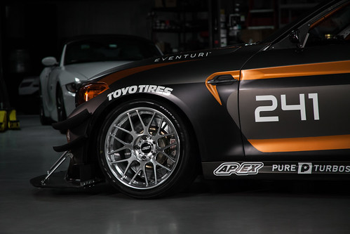 Tyspeed BMW M2 Race Car with ARC-8R Forged Wheels in Polished | by ApexRaceParts