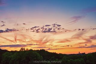 Fuchsturm after sunset