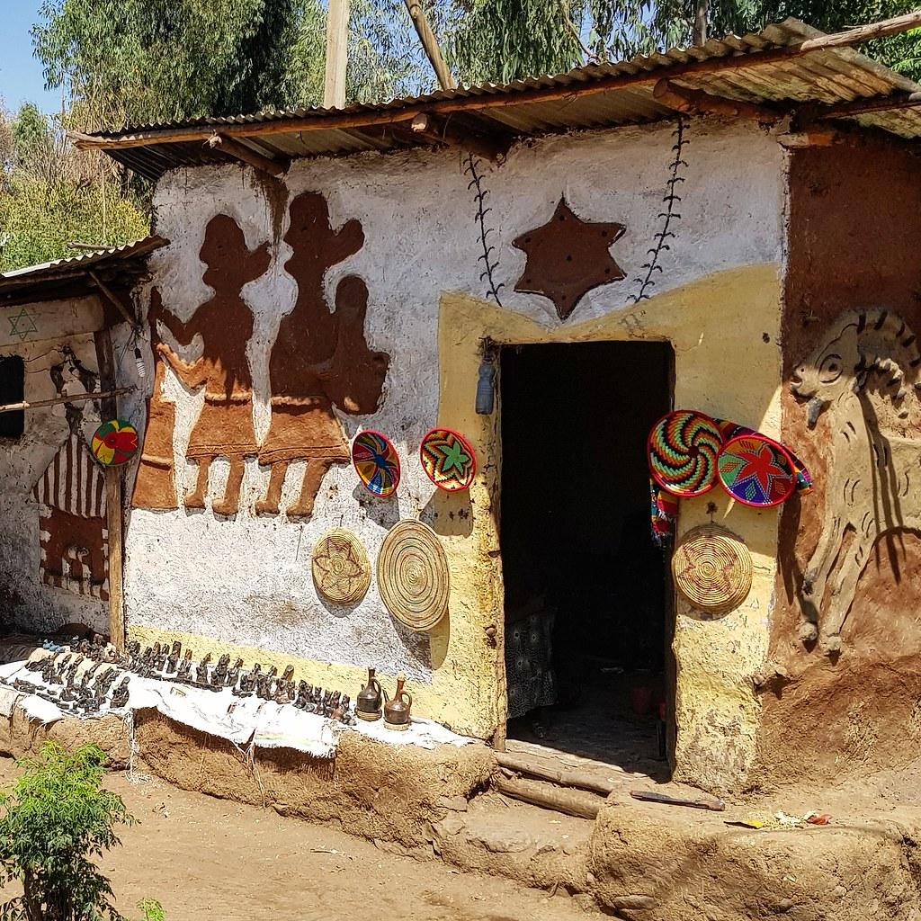 Wioska Fellaszy Etiopia
