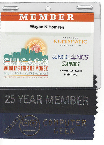 Wayne Homren 2019 ANA badge