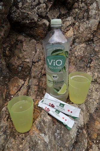 Obstriegel und ViO Bio Limonade (Limette & Gurke)