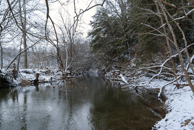 Spring Creek, snow, Overton County, Tennessee 5