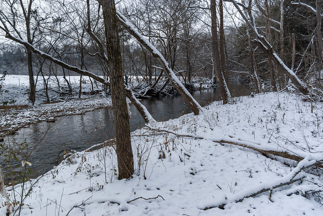 Spring Creek, snow, Overton County, Tennessee 6