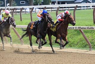 Break Curfew  on the inside wins at Saratoga