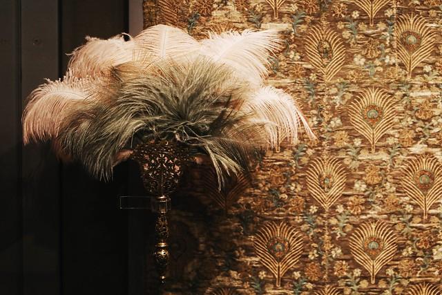 Venetian Fan Handle (1550) and Italian Silk Dress Fabric (1600-20)