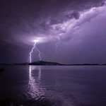19. August 2019 - 22:59 - Lightning over the lake