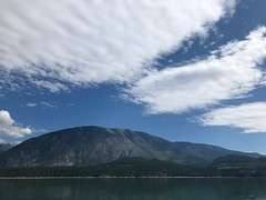 Beautiful cloud formation above Arrow Lake at Galena Bay