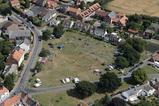 Martham's village green in Norfolk aerial image