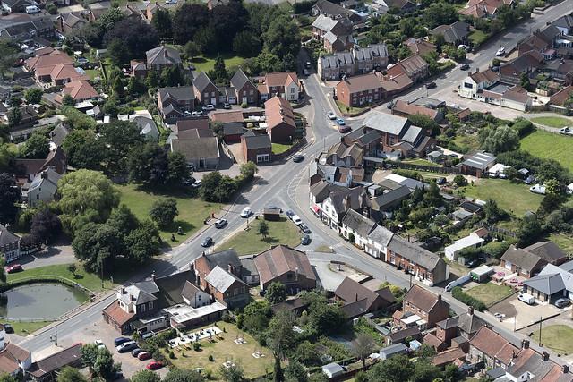 Martham in Norfolk aerial image