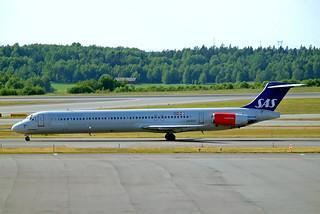 LN-RLF   McDonnell-Douglas DC-9-82 (MD82) [49383] (SAS Scandinavian Airlines) Stockholm-Arlanda~SE 06/06/2008