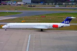 LN-RMC   McDonnell Douglas DC-9-82 (MD82) [49909] (SAS Scandinavian Airlines) Birmingham Int'l~G 22/02/2008