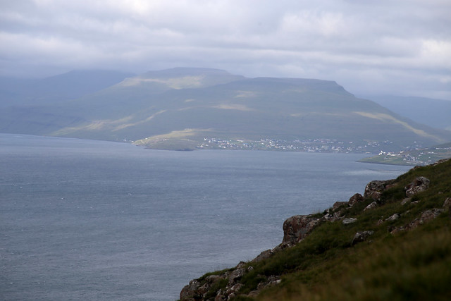The southern tip of Eysturoy from Nólsoy