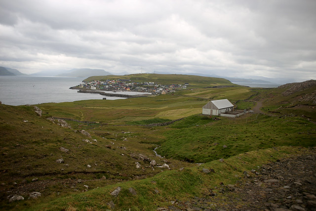 View back to Nólsoy harbour
