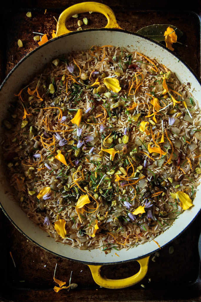 Orange Saffron Rice from HeatherChristo.com
