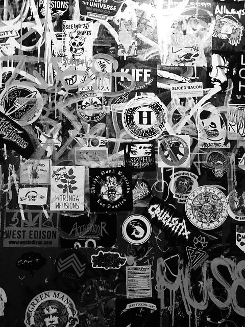 The bathroom door at The Gwar Bar in Richmond, Va. USA.