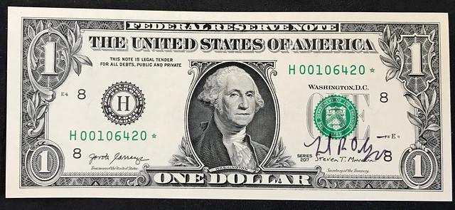 Tom Babinszki dollar signed Mint Director David Ryder