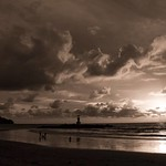 20. August 2019 - 1:21 - Monochrome Skyscape on Nangthong beach,  Khao Lak, Thailand.