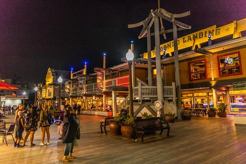Redondo Landing at Redondo Beach Pier at Night