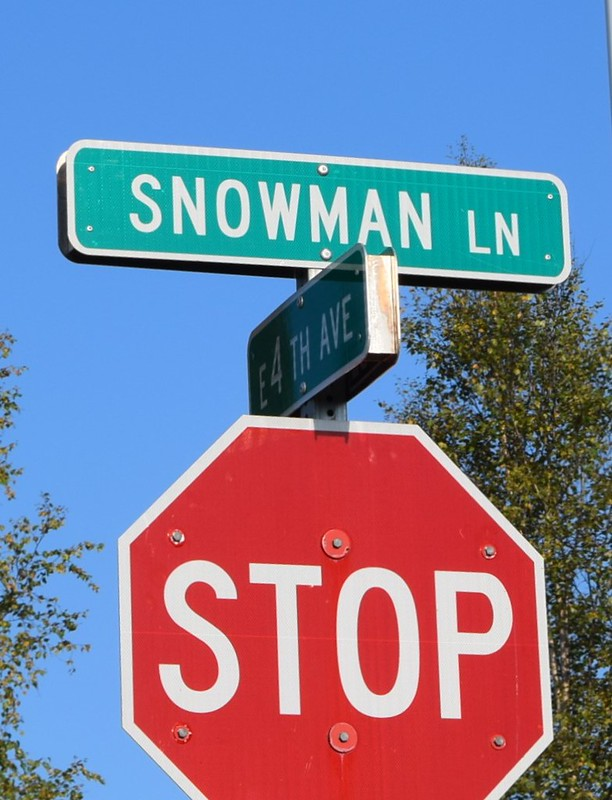 Snowman Lane - North Pole, Alaska