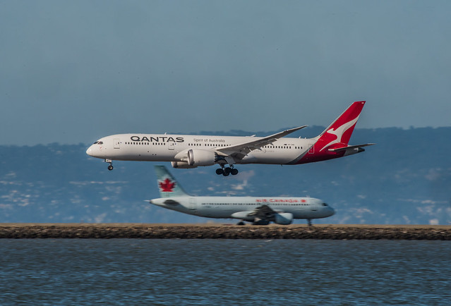 qantas qf 49 arriving from melbourne