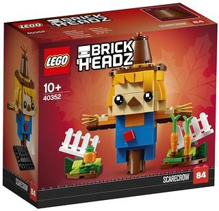 根本嚇不走鳥的超可愛稻草人~! LEGO 40352 BrickHeadz 系列【稻草人】Scarecrow