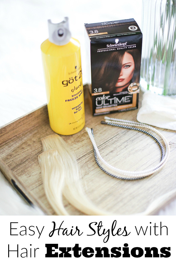 Easy Hair Styles during the Week using Hair Extensions #ShopSchwarzkopf