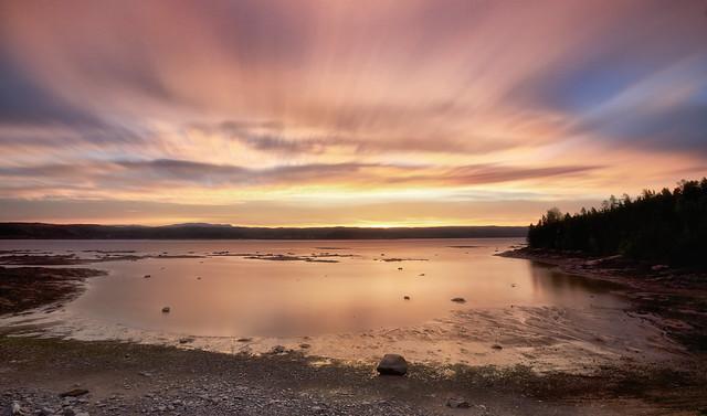 Lever du jour le long de la rivière Saguenay (11-06-2019)  Longue exposition