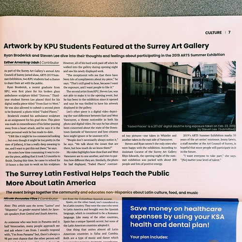 ARTS! 2019 featured in the KWANTLEN RUNNER | by steveleenow