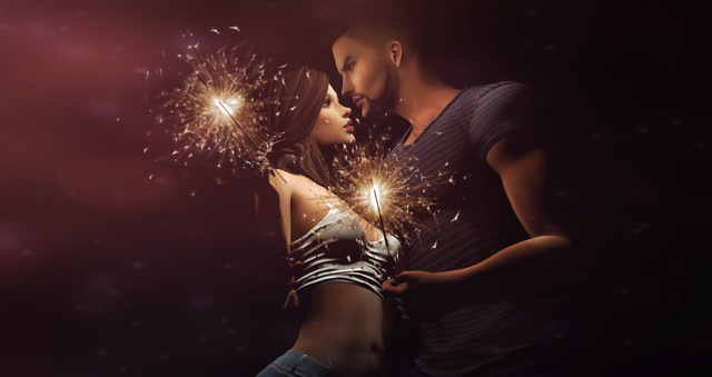The spark of love was created, the moment my eyes clashed with yours...