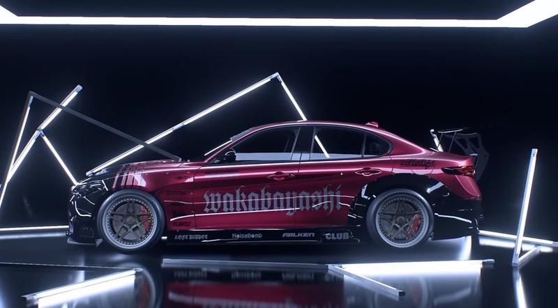 Need For Speed Heat - Perfil lateral de Alfa Romeo