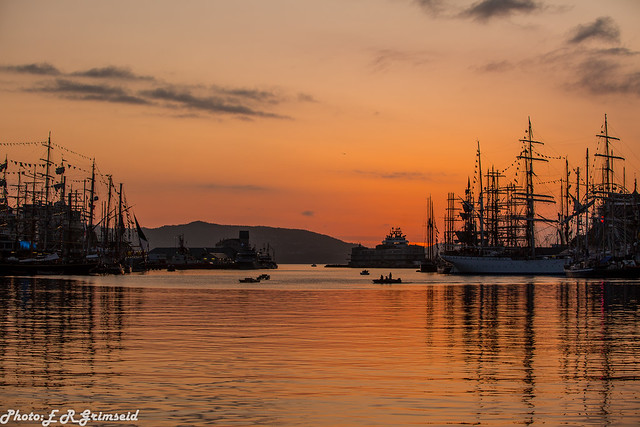 Sunset , The Tall Ships Races 2019
