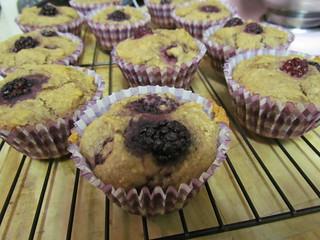Blackberry Allspice Muffins