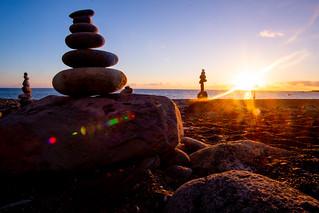 La Palma beach sunset