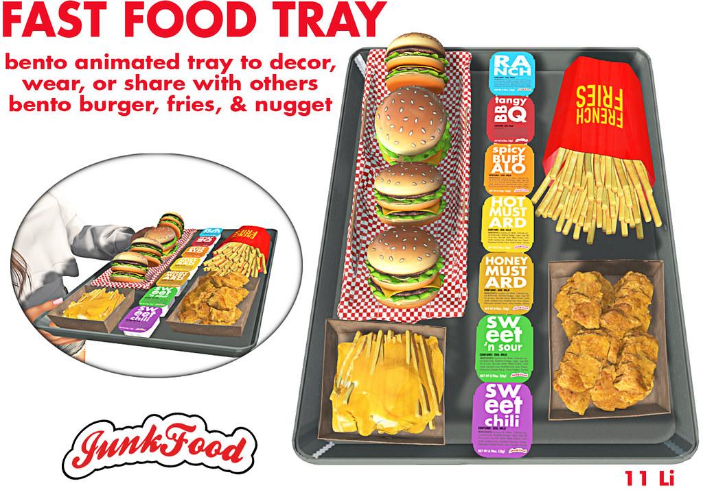 Junk Food – Fast Food Tray Ad