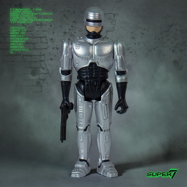 """Dead or alive you're coming with me!"" Super7 ReAction Figures 系列《機器戰警》RoboCop 3.75 吋吊卡玩具 情報公開!"