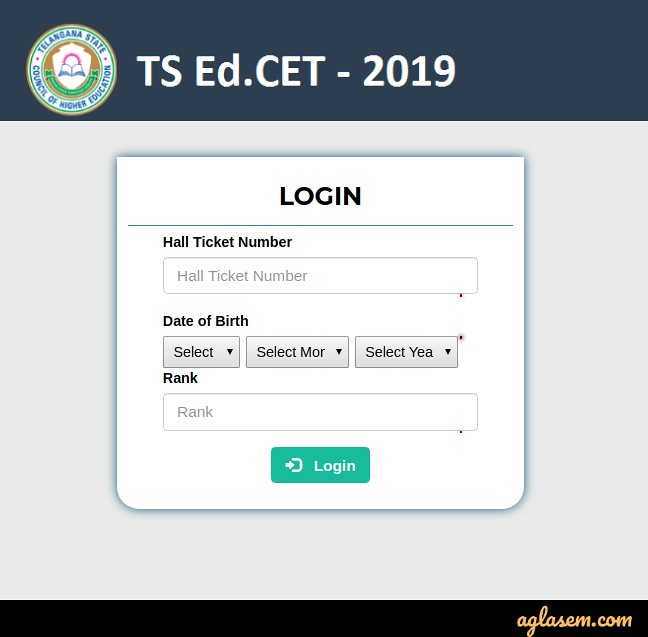 TS EdCET 2020 counselling login