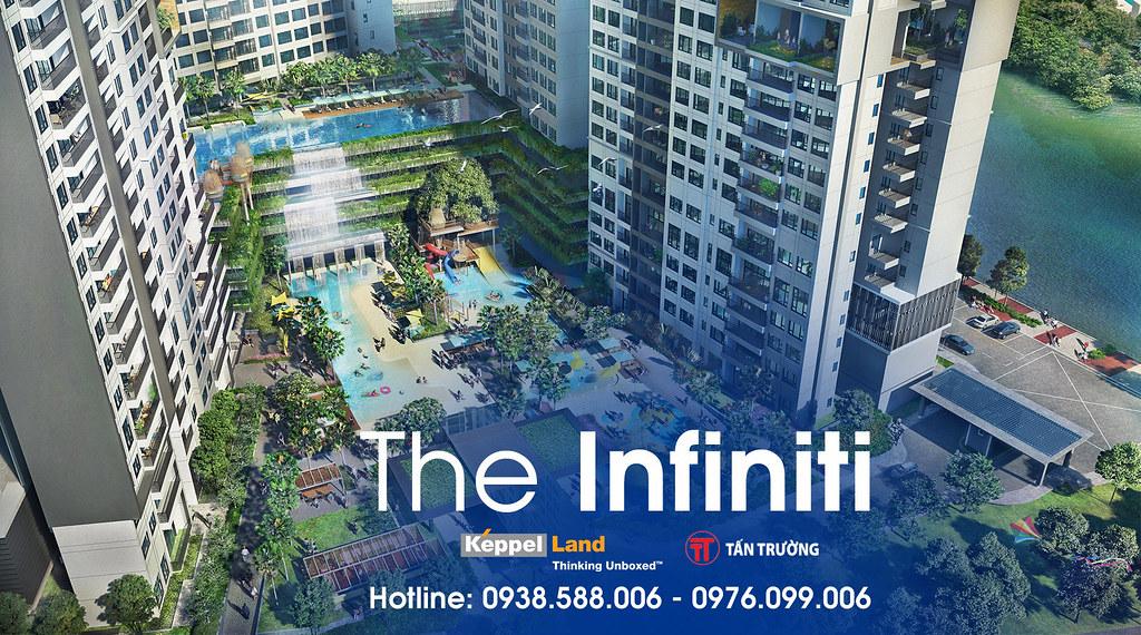 Điểm mạnh của The Infiniti chính là ưu thế về mật độ 65% diện tích cây xanh, mặt nước bên trong dự án.