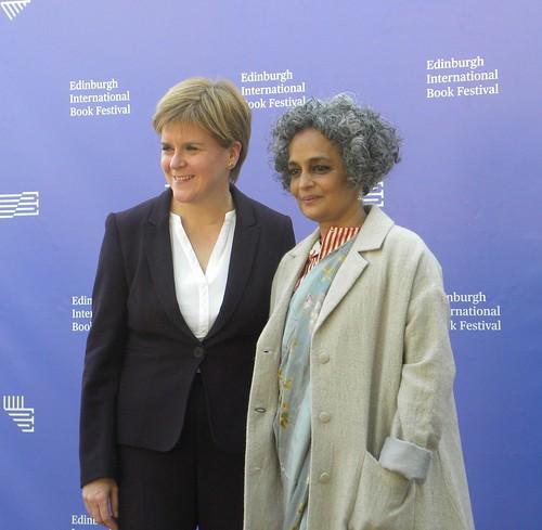 Nicola Sturgeon and Arundhati Roy