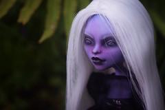ooak ooakdoll doll monsterhigh monsterhighooak mh janeboolittle storm violet portrait etsy customdoll custom repaint dolls