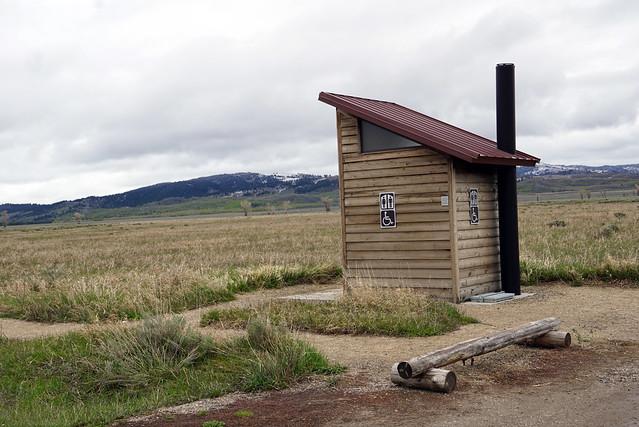 Outhouse at Mormon Row - Grand Teton National Park, WY